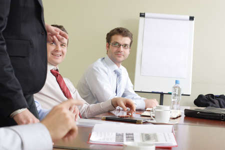 Group of business people  at the meeting Stock Photo - 809589