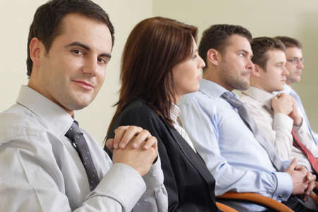 Group of business people  at the meeting Stock Photo - 809592