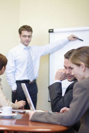 presentation - Business people working in the office - 2 man, 2 woman Stock Photo - 956759