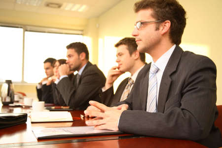 Business Executives In a Conference photo