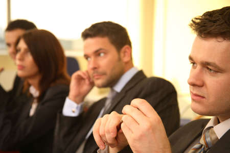 confer: Business Executives In a Conference Stock Photo