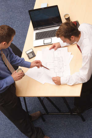 Two business men working with projcet. Stock Photo - 2137759