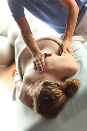 Female receiving back massage - close up Stock Photo - 7716989