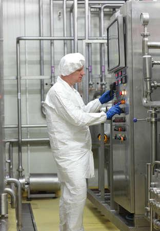 biotecnologia: el control técnico de la biotecnología proceso industrial Foto de archivo