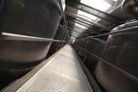 Silver process tanks in modern plant - Industrial  Interior photo