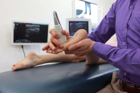 elongacion: ecografía del pie del niño - Diagnóstico