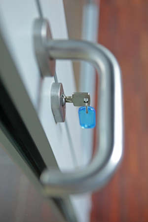 the key in the lock - handle out of focus