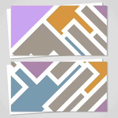 Vector business-card set voor uw ontwerp
