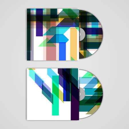 Vector cd cover  set for your design Vector