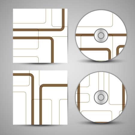 dvd rom: Vector cd cover  set for your design Illustration