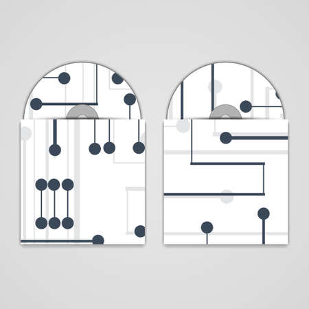 substrate: cd cover establece bordo Ilustraci�n circuito.