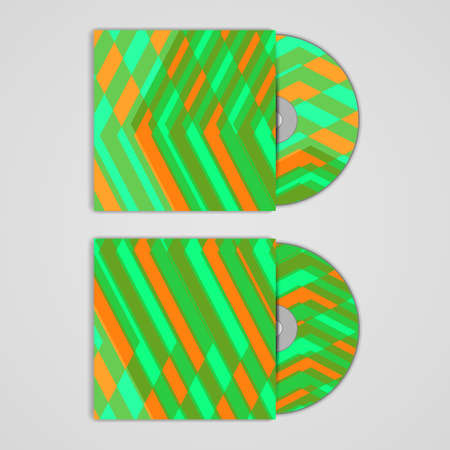 Vector cd cover  set for your design, abstract Illustration. illustration