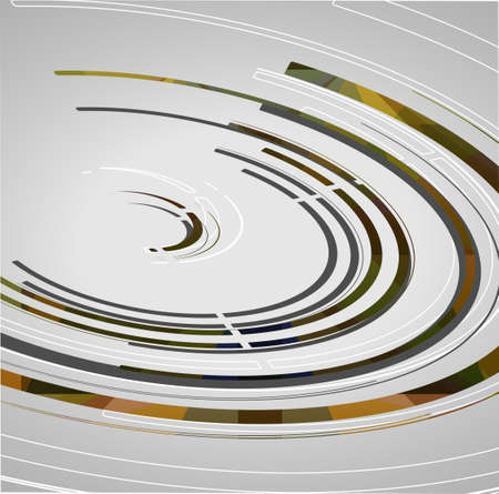 Abstract technology circles background, dynamic illustration. Stock Vector - 22009640