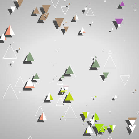 Abstract geometric shapes, dynamic illustration. Vector