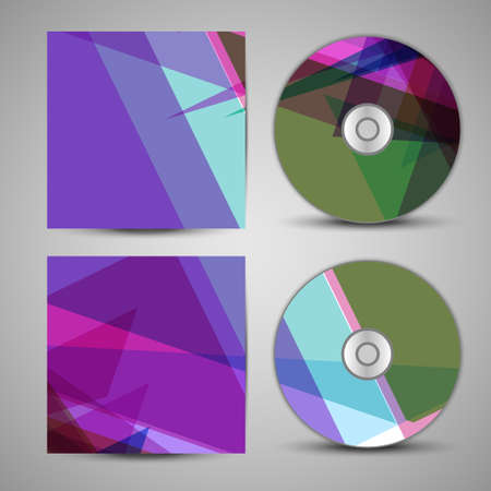 compact disc: cd cover  set for your design, abstract Illustration.