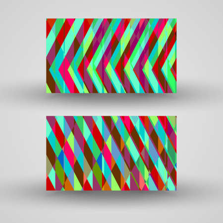 business-card  set for your design, abstract Illustration. Vector