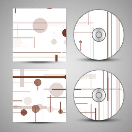 cd cover  set for your design, circuit board Illustration. Vector