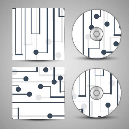 side effect: cd cover  set for your design, circuit board Illustration.