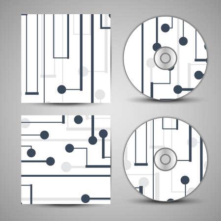 substrate: cubierta cd establecido para su dise�o, tablero Ilustraci�n circuito.