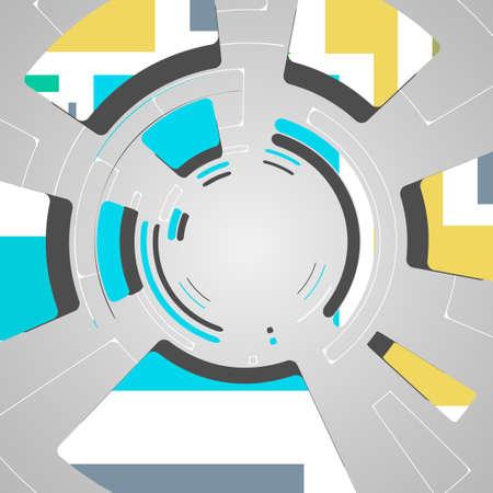 abstrait pour la conception de technologie futuriste, illustration dynamique