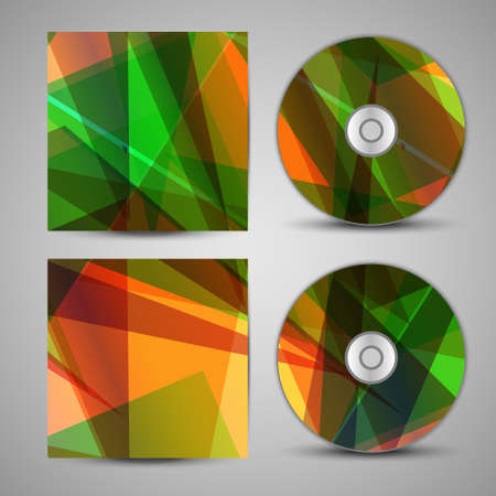 cd rom: Vector cd cover  set for your design, abstract Illustration