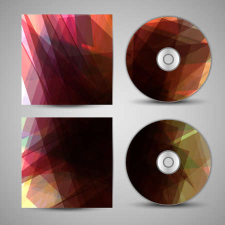 cd r: Vector cd cover  set for your design, abstract Illustration