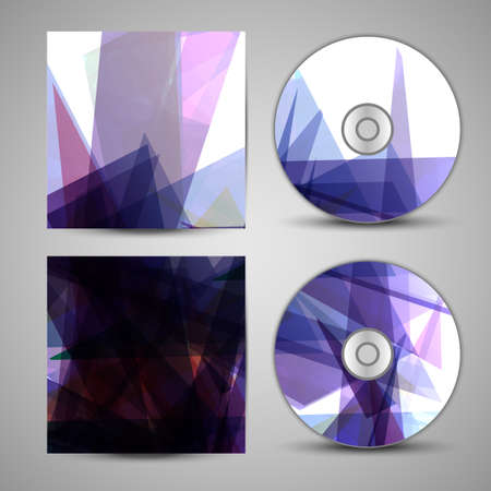 Vector cd cover  set for your design, abstract Illustration  Vector