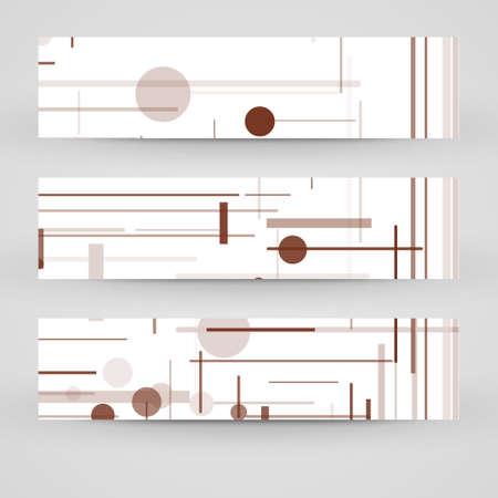 Vector banner set for your design, circuit board Illustration. Vector