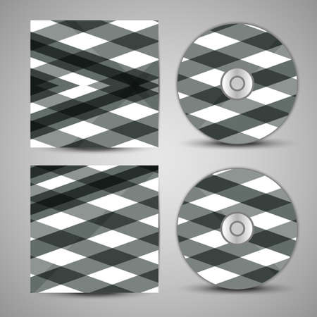 the inscription: Vector cd cover  set for your design, abstract Illustration.