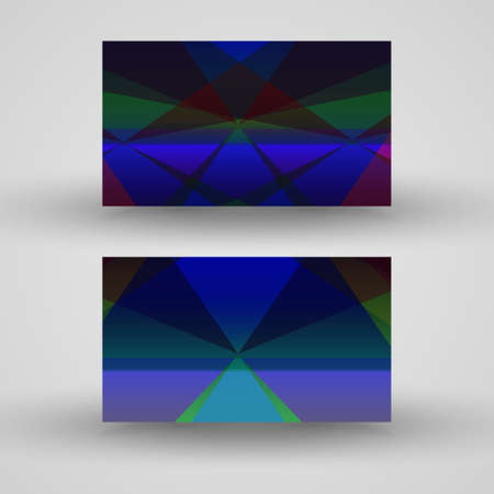 Vector business-card  set for your design, abstract Illustration. Vector