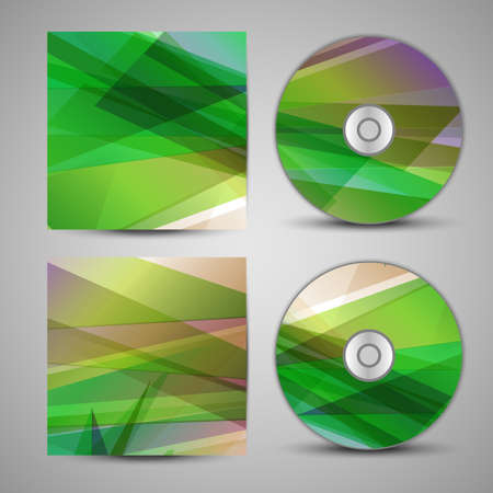 Vector cd cover  set  Vector