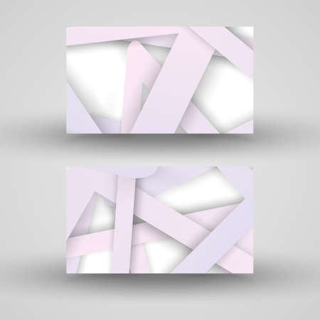 businesscard: Vector business-card  set for your design, abstract Illustration.