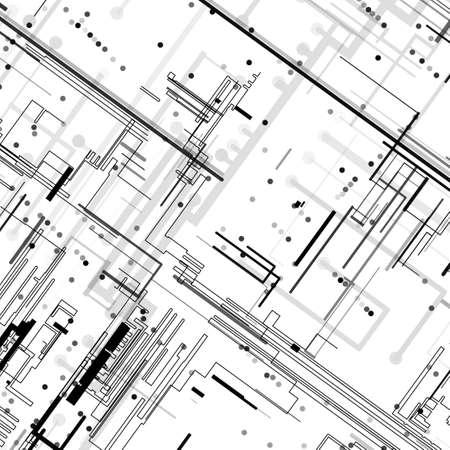 Circuito sfondo, illustrazione tecnologia stile Archivio Fotografico - 24869556