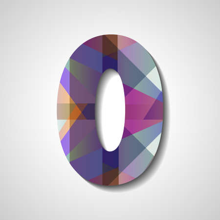 abstract  illustration, number collection - 0 Illustration