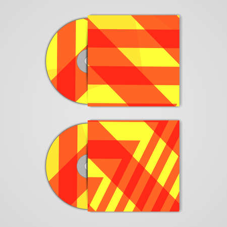 dvd case: Vector cd cover  set for your design, abstract Illustration.