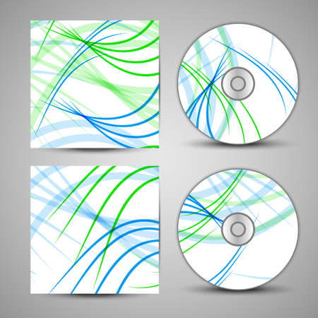 cd case: Vector cd cover  set for your design, abstract Illustration.