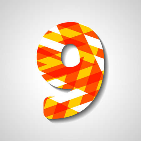 abstract  illustration, number collection - 9