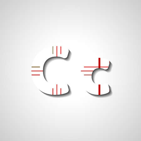 lettre alphabet: Colorful alphabet lettre, illustration abstraite Illustration