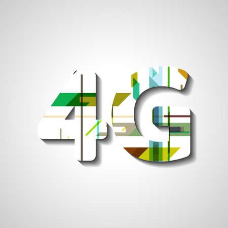 wireless communication: 4G latest wireless communication, abstract symbol
