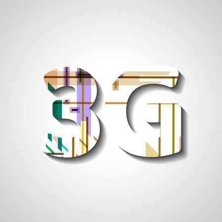 compatibility: 3G abstract symbol, style illustration Illustration