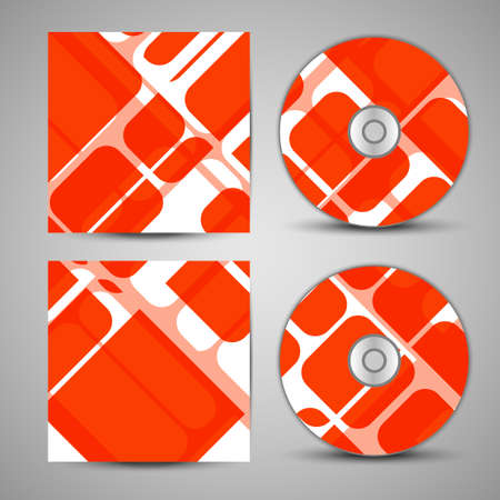 dvd rom: Vector cd cover  set for your design, abstract Illustration.