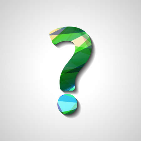 Abstract question mark, style illustration Vector