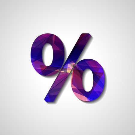 economic interest: Abstract percentage symbol, style illustration Illustration