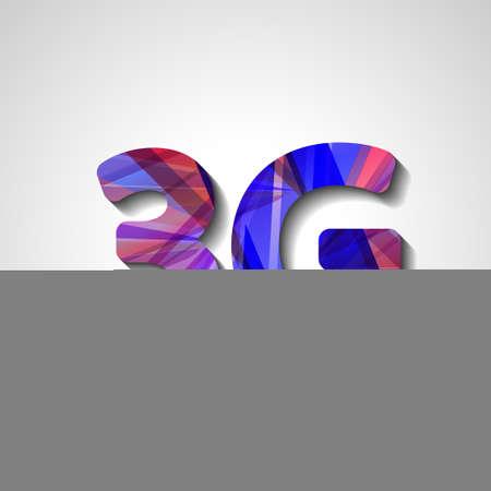 3g: 3G s�mbolo abstracto, ilustraci�n de estilo