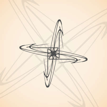 Tribal tattoo - abstract background, futuristic shapes illustration. Illustration