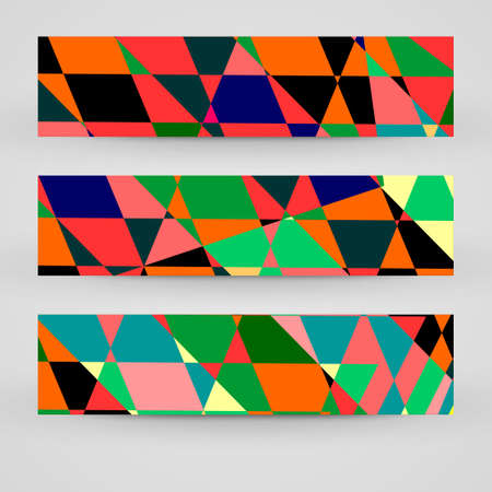 banner set for your design, abstract Illustration. Vector