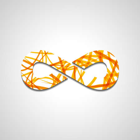 symbole infini: Symbole de l'infini abstrait, le style illustration Illustration