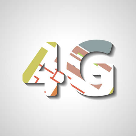 4G latest wireless communication, abstract symbol Vector