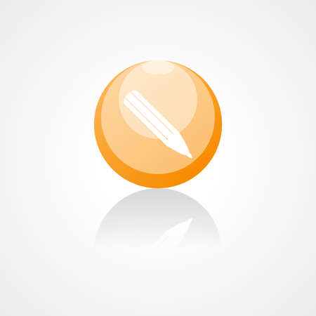 pencil vector web icon, on white background Vector