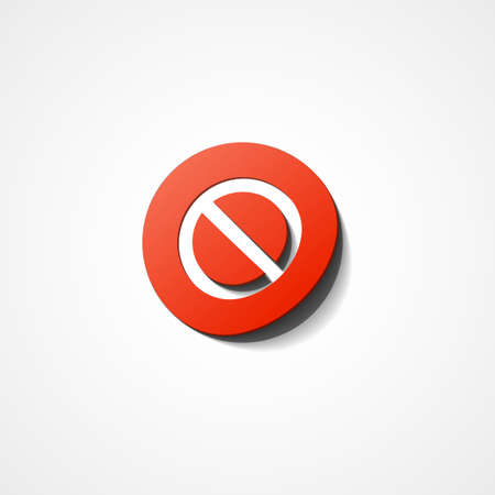 No Sign web icon on white background Vector